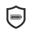 shield with battery icon template isolated on vector image