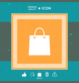 shopping symbol bag vector image