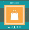shopping symbol bag vector image
