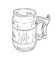 sketch of beer glass vector image