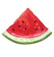 Slice of watermelon vector image