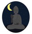 statue buddha on white background vector image
