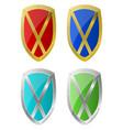 steel shield design vector image vector image