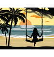 Summer Sunset Beach vector image vector image
