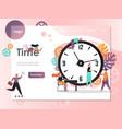 time website landing page design template vector image