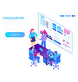 visualization concept background isometric style vector image