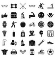 weight icons set simple style vector image vector image