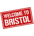 welcome to bristol stamp vector image vector image