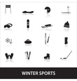 winter sports eps10 vector image vector image