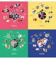 Entertainment Compositions Or Icon Set vector image