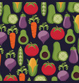 healthy food vegetables fresh seamless pattern vector image