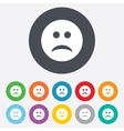 Sad face sign icon Sadness symbol vector image