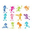 set of cartoon children vector image