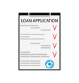 loan application flat isolated on white vector image