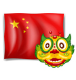 A dragon and the Chinese flag vector image