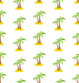 Abstract Seamless Pattern with Tropical Palm Trees vector image vector image
