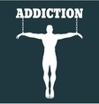 Addicition metaphor vector image vector image
