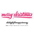 alphabet - merry christmas xmas badge vector image vector image