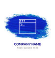application window interface icon - blue vector image vector image
