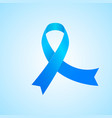 awareness blue ribbon vector image