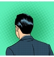 back head businessman vector image vector image