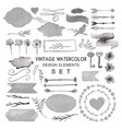 big watercolor vintage set vector image