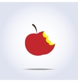 bitten apple icon vector image vector image