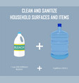 bleach and water mix for cleaning sanitizing vector image vector image
