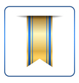 Blue bookmark banner gold vector image vector image
