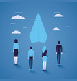 businesspeople paper plane startup startup vector image
