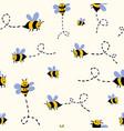buzzing bees vector image vector image