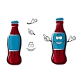Cartoon isolated sweet soda bottle vector image vector image