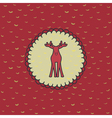 Christmas and New Year round frame with deer vector image vector image
