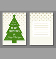 christmas greeting or invitation card template vector image