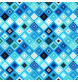 colorful abstract repeating diagonal square vector image vector image