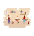 Concept of school class room vector image