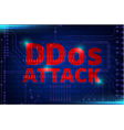 DDOS on a Digital Binary Warning vector image