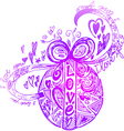 Decorated Love Easter egg vector image vector image