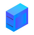 desktop pc icon isometric style vector image vector image