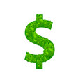 dollar many sign on the white background vector image vector image