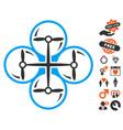 drone screws icon with valentine bonus vector image vector image
