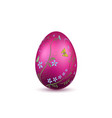 easter egg 3d icon pink shine egg isolated white vector image vector image