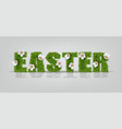 easter green grass sign realistic vector image vector image