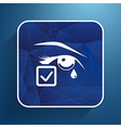 Eye with tears eye isolated sign symbol icon vector image