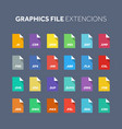 flat style icon set source code programming file vector image vector image