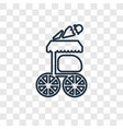 food cart concept linear icon isolated on vector image