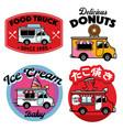 food truck badge mascot vector image vector image