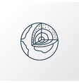 geology icon line symbol premium quality isolated vector image vector image