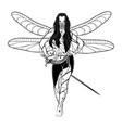 girl fairy 2021 0003 vector image vector image