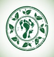 green stamp vector image